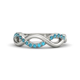 Platinum Ring with London Blue Topaz
