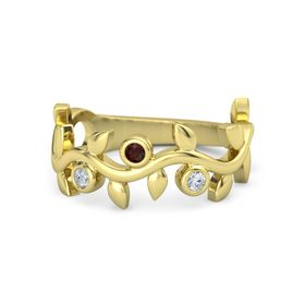 Liana Ring with Three Gems
