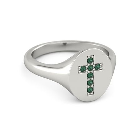 Brilliant Cross Signet Ring