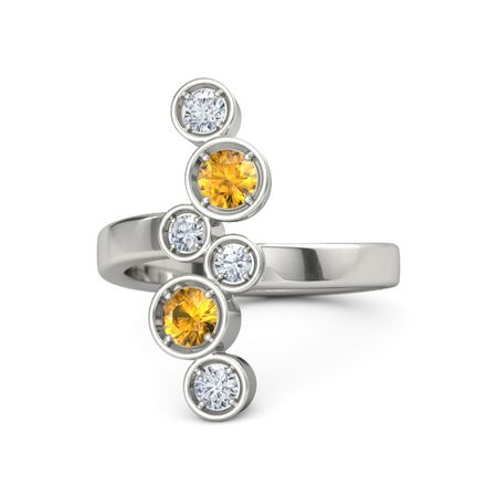 Cascading Gemstone Ring
