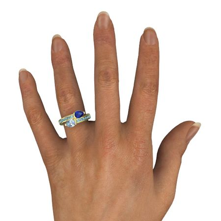 Pear-Cut Wrap Ring