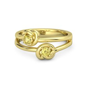 14K Yellow Gold Ring with Yellow Sapphire