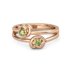 18K Rose Gold Ring with Peridot