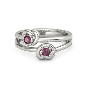 Palladium Ring with Rhodolite Garnet