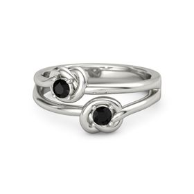 Platinum Ring with Black Onyx