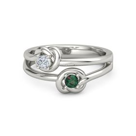 Platinum Ring with Alexandrite and Diamond