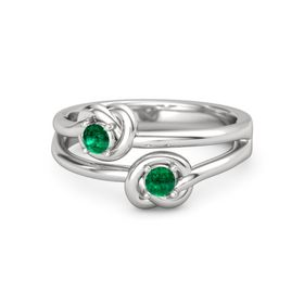 Sterling Silver Ring with Emerald