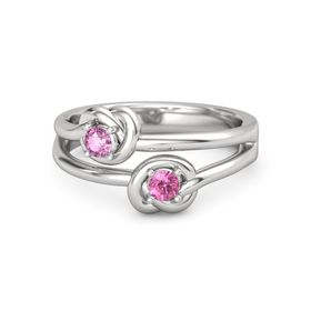 Sterling Silver Ring with Pink Tourmaline & Pink Sapphire