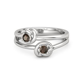 Sterling Silver Ring with Smoky Quartz