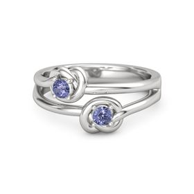 Sterling Silver Ring with Tanzanite
