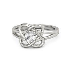 Round Rock Crystal 14K White Gold Ring