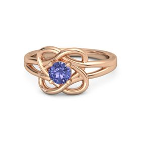 Round Tanzanite 18K Rose Gold Ring