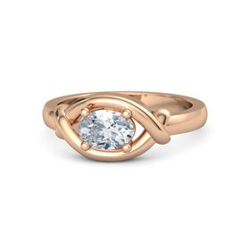 Oval Diamond 14K Rose Gold Ring