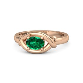Oval Emerald 14K Rose Gold Ring