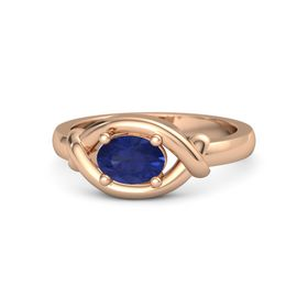 Oval Sapphire 14K Rose Gold Ring