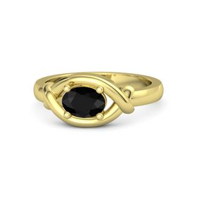 Oval Black Onyx 14K Yellow Gold Ring