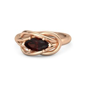 Marquise Red Garnet 14K Rose Gold Ring