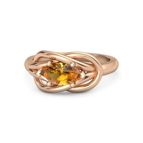 Marquise Citrine 14K Rose Gold Ring