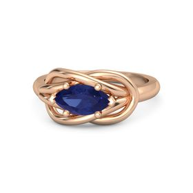 Marquise Sapphire 14K Rose Gold Ring