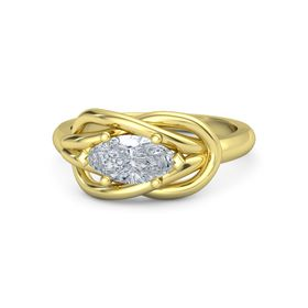 Marquise Diamond 14K Yellow Gold Ring