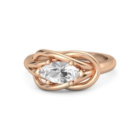 Marquise Rock Crystal 18K Rose Gold Ring
