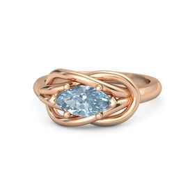 Marquise Aquamarine 18K Rose Gold Ring