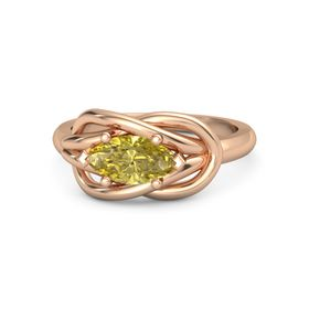 Marquise Yellow Sapphire 18K Rose Gold Ring