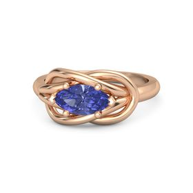 Marquise Tanzanite 18K Rose Gold Ring