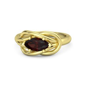 Marquise Red Garnet 18K Yellow Gold Ring