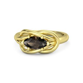 Marquise Smoky Quartz 18K Yellow Gold Ring