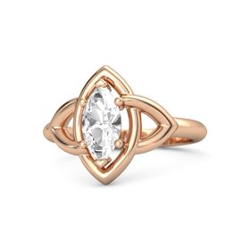 Marquise Rock Crystal 14K Rose Gold Ring