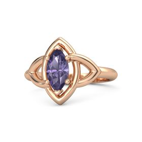 Marquise Iolite 14K Rose Gold Ring