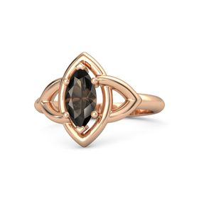 Marquise Smoky Quartz 14K Rose Gold Ring