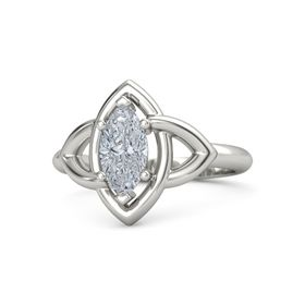 Marquise Diamond 14K White Gold Ring