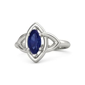 Marquise Sapphire 14K White Gold Ring