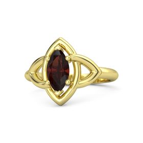 Marquise Red Garnet 14K Yellow Gold Ring