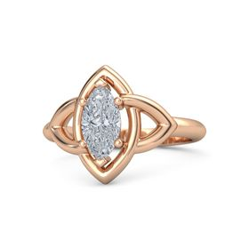 Marquise Diamond 18K Rose Gold Ring
