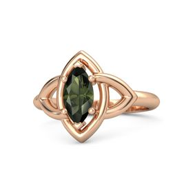 Marquise Green Tourmaline 18K Rose Gold Ring