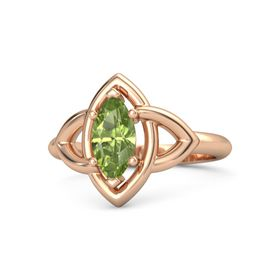 Marquise Peridot 18K Rose Gold Ring