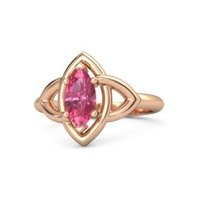 Marquise Pink Tourmaline 18K Rose Gold Ring
