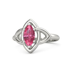Marquise Pink Tourmaline 18K White Gold Ring