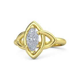 Marquise Diamond 18K Yellow Gold Ring