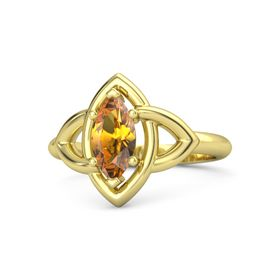 Marquise Citrine 18K Yellow Gold Ring