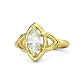 Marquise Green Amethyst 18K Yellow Gold Ring