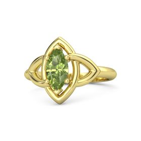 Marquise Peridot 18K Yellow Gold Ring