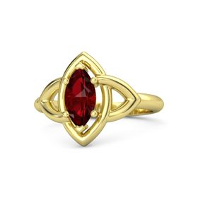 Marquise Ruby 18K Yellow Gold Ring