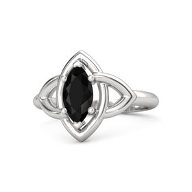 Marquise Black Onyx Sterling Silver Ring