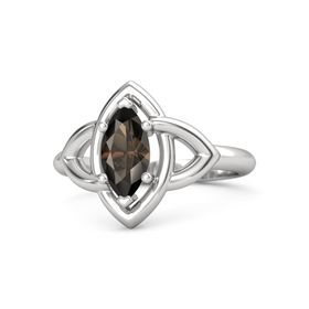 Marquise Smoky Quartz Sterling Silver Ring