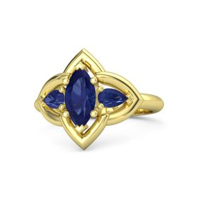 Marquise Sapphire 14K Yellow Gold Ring with Sapphire
