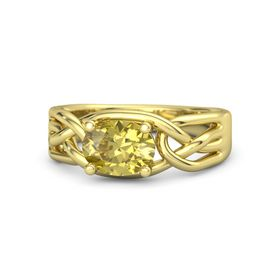 Oval Yellow Sapphire 14K Yellow Gold Ring